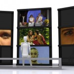 Design 2b. Video projection. Portable screens
