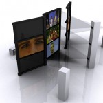 Design 2d. Video projection. Portable screens
